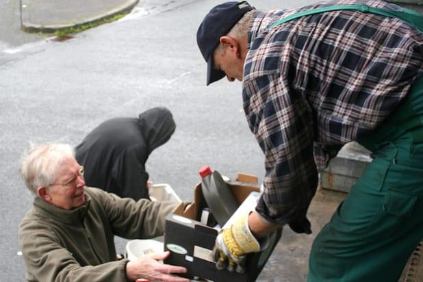 Die mobile Schadstoffsammlung kommt gut an in Wilnsdorf (Foto: Gemeinde Wilnsdorf).