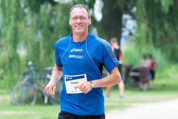 Dieter Baumann beim Training (Foto: KKH Kaufmännische Krankenkasse)