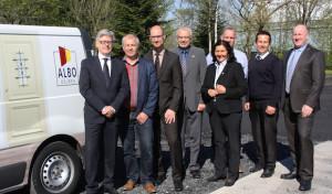 Enser Jungunternehmen Albo Türen erläuterte Landrätin Zukunftspläne