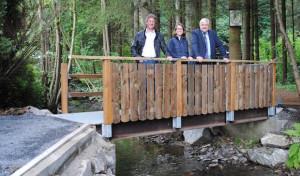 Neue Brücke über die Gebke verbindet Jahnstraße und Deitmecke
