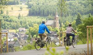 Winterberg als Knotenpunkt großer Radwanderwege