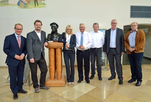 Im Dialog über die Museumslandschaft in Westfalen (v.li.): Dr. Klaus Drathen, Dr. Sven-Hinrich Siemers, Barbara Rüschoff-Thale, Dr. Karl Schneider, Wolfgang Diekmann, Ralf Péus und Werner Wolff (Foto: Dr. Ines Klenner).