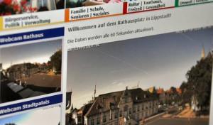 Live-Blick auf den Rathausplatz von Lippstadt