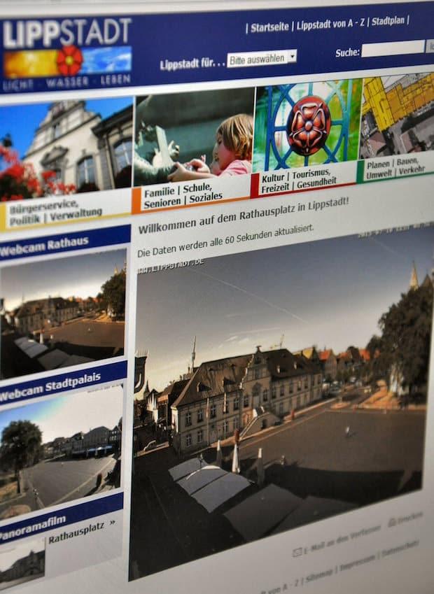 Mit ein paar Klicks können Bürger über die Seite der Stadt Lippstadt Bilder vom Rathausplatz empfangen (Foto: Stadt Lippstadt).