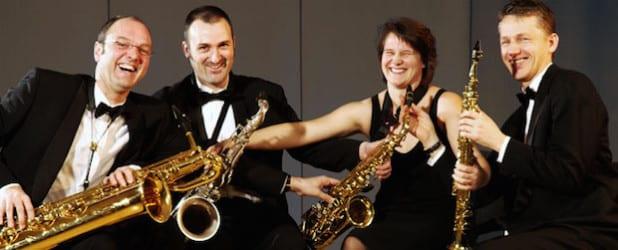"""Die """"Saxophonics"""" - Quelle: Tagungs- und Kongresszentrum Bad Sassendorf GmbH"""