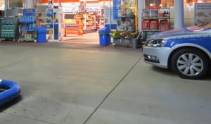 Raubüberfall auf Tankstelle
