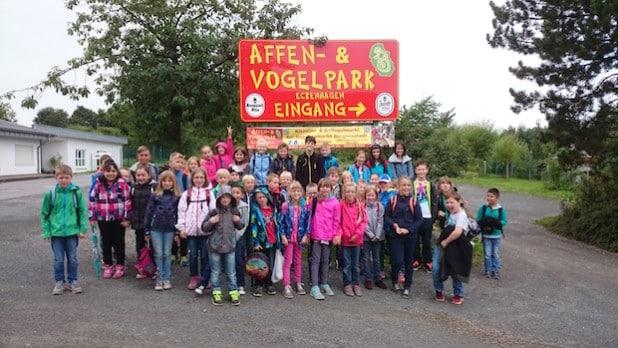 """Besuch des Affen- und Vogelparks im Rahmen des Ferienprogramms """"Ferien Fun Days"""". Foto: Stadt Lüdenscheid"""