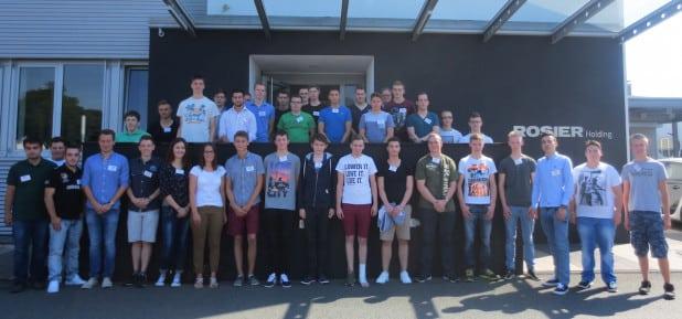 38 neue Auszubildende wurden am Montag im Autohaus Rosier von Geschäftsführer Marc Heinen begrüßt. Quelle: ROSIER GmbH & Co. KG
