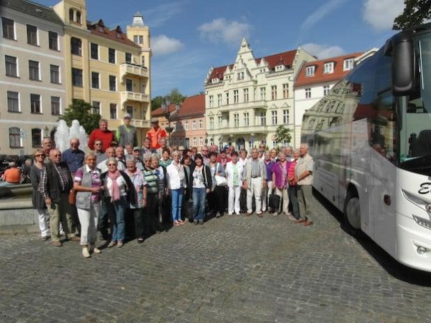 Der Partnerschaftsverein auf dem Altstädtischen Markt in Brandenburg - Quelle: Siegen - Wittgenstein - Spandau e. V