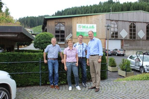 v.l.n.r: Burkhard Hömberg, Petra Schulte-Maag, Michael Schulte, Matthias Heider - Quelle: Dr. Matthias Heider MdB