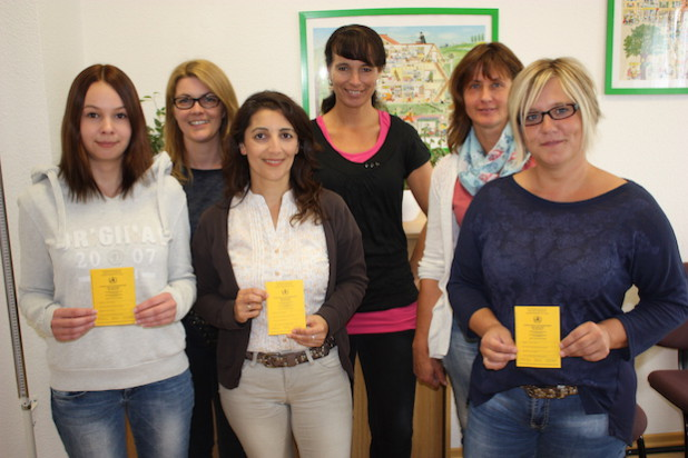 Einige Mitarbeiterinnen des Kinder- und Jugendärztlichen Dienstes, die die Impfberatung durchführen (von links): Janine Pfeiffer, Tanja Schürholz, Seriban Horn, Sabine Lenz, Monika Berndt und Melanie Ohms (Foto: Kreis Olpe).