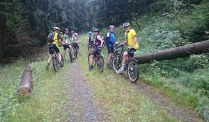 Unterwegs mit Klaus Jung auf dem Mountainbike