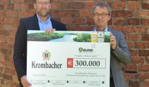 Krombacher spendet weitere 300.000 Euro für einzigartige Auen-Wildnis