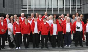 Behinderten-Sportler aus Wrexham im Kreishaus