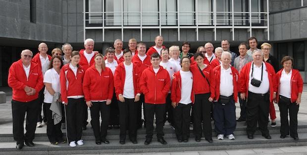 Photo of Behinderten-Sportler aus Wrexham im Kreishaus