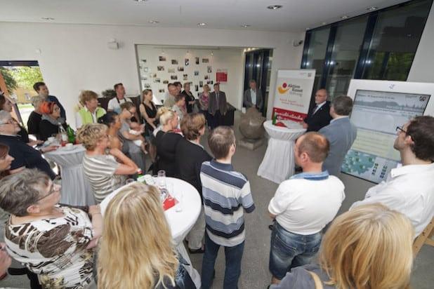 Die Ausstellungseröffnung durch Regierungspräsident Dr. Gerd Bollermann (Foto: Bezirksregierung Arnsberg).