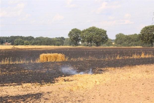 Etwa 40000 Quadratmeter Fläche brannten ab. - Kreispolizeibehörde Soest