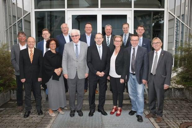 Die Bürgermeisterinnen und Bürgermeister trafen sich mit Landrat Thomas Gemke in Lüdenscheid (Foto: Hendrik Klein/Märkischer Kreis).