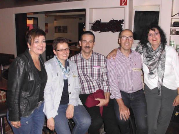 Foto von links: Marlene Weiner, das Ehepaar Elisabeth und Andreas Haarmann, Peter Neuhaus (weiteste Anreise) und Lucia Esposito (Foto: Susanne Müller)