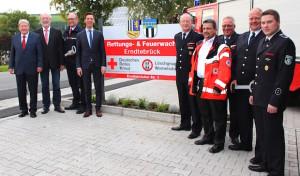 Neue Rettungs- und Feuerwache in Womelsdorf eingeweiht