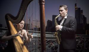 Harfe und Saxophon in schönster Harmonie