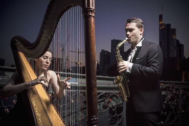 Photo of Harfe und Saxophon in schönster Harmonie