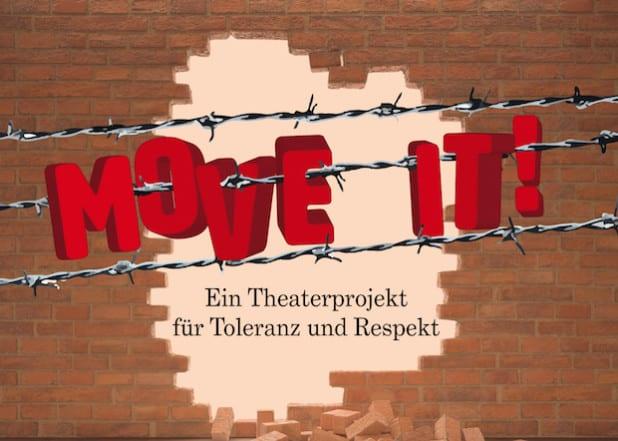 """Das Projekt """"Move it!"""" mündet in Theateraufführungen in der Stadthalle Soest am 30. Oktober. 22 Jugendliche von 14 bis 18 Jahren präsentieren ihre Perspektive auf Toleranz und Respekt in unserer Gesellschaft (Grafik: Hergen Köhler)."""