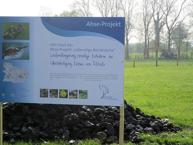 """Die Maßnahmen am Salzbach und an der Kortemühle sind Teil des Ahse-Projekts """"Lebendige Bördebäche"""" (Foto: Lukas Piske/Kreis Soest)."""