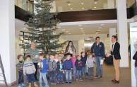 Vorschulkinder schmücken Weihnachtsbaum im Kreishaus