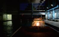 Schwimmen bei Kerzenschein