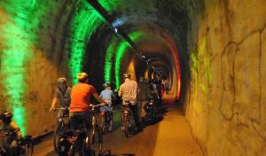 Der Wegeringhauser Fahrrad-Tunnel in Drolshagen verbindet
