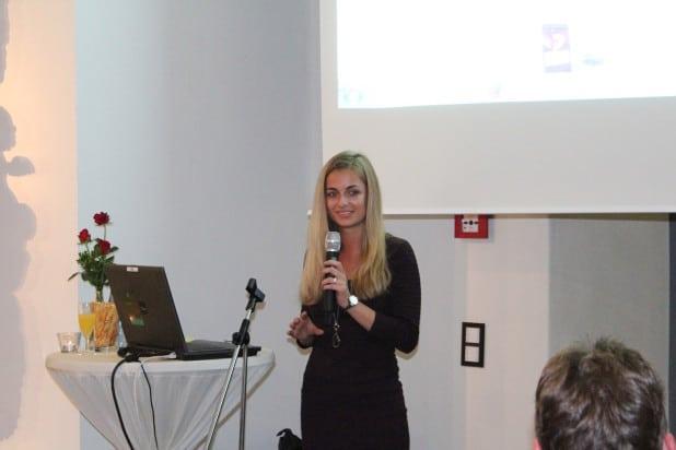 Kristin Meyer berichtete über sämtliche Projektphasen vom Webkaufhaus Attendorn.