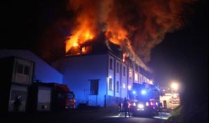 Großbrand in einer Firma
