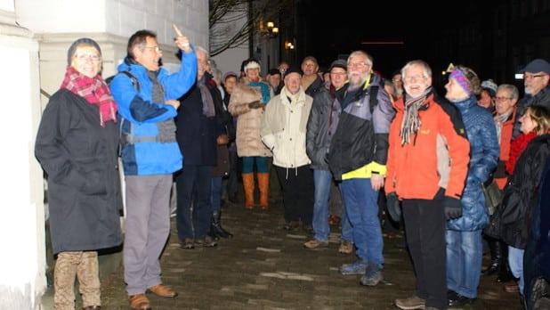 Der abendliche Rundgang am 30.12.2014 (Foto: Klaus Peters).