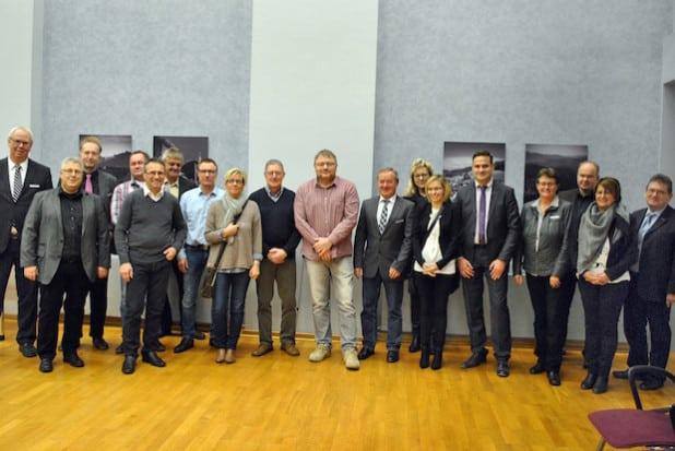 Im Rahmen ihres Besuches in der Gemeinde Bestwig nahmen die Gäste aus Niederorschel auch an einer Ratssitzung im Großen Bürgersaal des Bürger- und Rathauses teil (Foto: Gemeinde Bestwig).