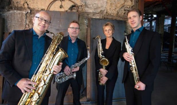 "Das ""Pindakaas Saxophonquartett"" - Quelle: Hansestadt Attendorn"