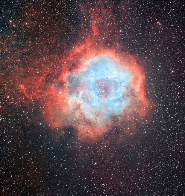 Einen Blick ins Weltall gewähren die Mendener Sternenfreunde bei ihrer Ausstellung im Kreishaus (Foto: Sternenfreunde Menden).