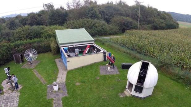 Das Vereinsgelände im Mendener Ortsteil Platte Heide (Foto: Sternenfreunde).