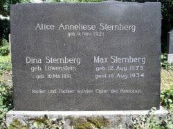 Der Grabstein wurde um die Namen der ermordeten Ehefrau und Tochter von Max Sternberg 2008 auf Initiative der ehemaligen jüdischen Mitbürgerin Marianne Lüdeking geb. Bachrach und in enger Zusammenarbeit mit Stadtarchivarin Martina Wittkopp-Beine ergänzt (Quelle: Martina Wittkopp-Beine, Stadtarchiv Plettenberg).