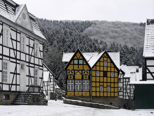 Historische Gebäude auf dem Museumsgelände (Foto: Fotogruppe Freilichtmuseum).