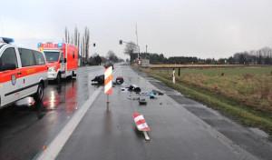 Geseke: Rollerfahrer übersah Warnbake