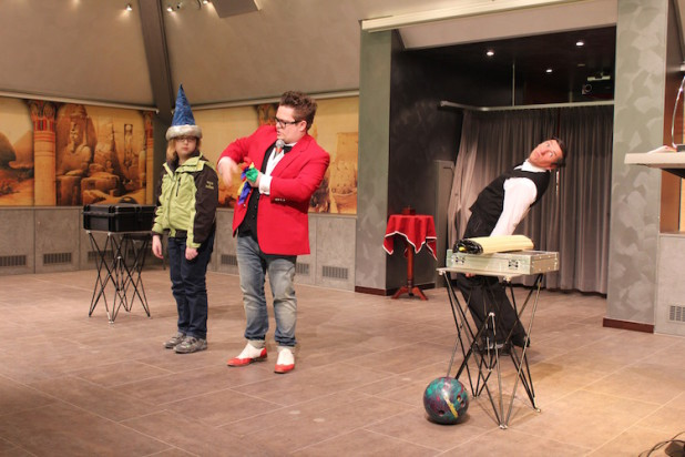 """Live-Show mit Sascha Lange, """"dem Rudi"""" und Wolfgang Hübsch Foto: Sven-Oliver Rüsche"""