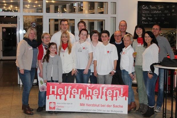 Photo of Helfer helfen: Caritasverband Olpe wirkt bei Blutspendeaktion des DRK mit