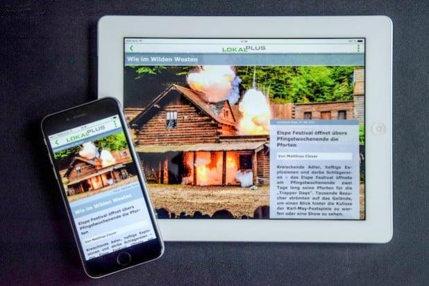 Die LokalPlus-App gibt es sowohl für Smartphones, als auch für Tablets. Quelle: ontavio GmbH