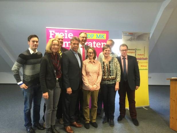 Der neue Kreisvorstand - Foto: FDP Meinerzhagen
