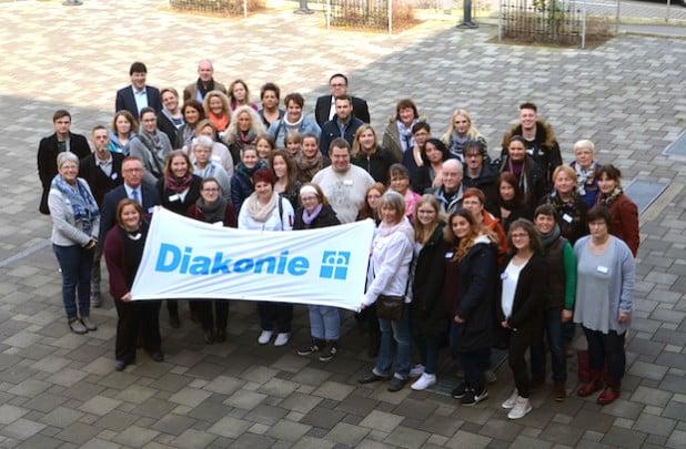 """Mit einem """"Begrüßungstag"""" heißt die Diakonie Mark-Ruhr zweimal im Jahr neue Mitarbeitende im Unternehmen willkommen (Foto: Diakonie Mark-Ruhr gemeinnützige GmbH)."""