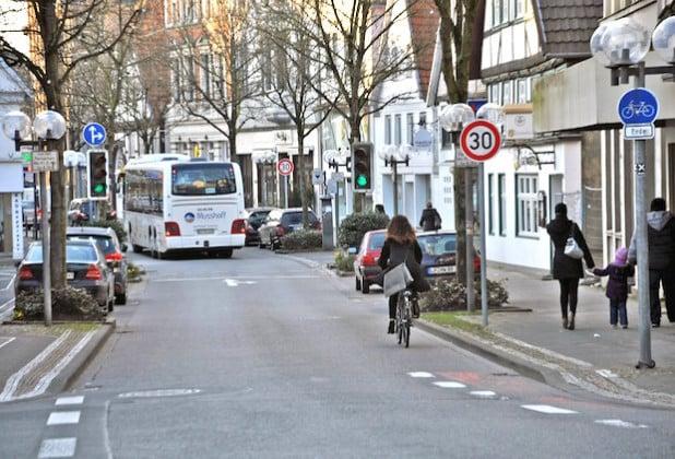 Ab sofort gilt auf der gesamten Strecke Cappeltor/Cappelstraße Tempo 30 (Foto: Stadt Lippstadt).