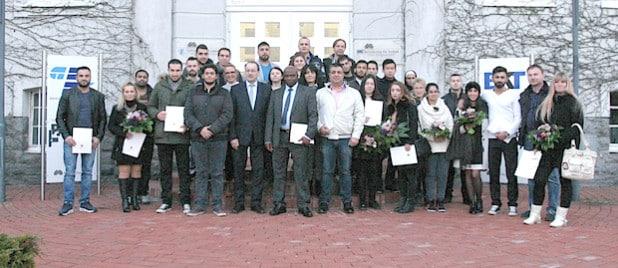 49 Neubürger begrüßte Landrat Thomas Gemke bei der jüngsten Einbürgerungsfeier (Foto: Kai Budde/Märkischer Kreis).