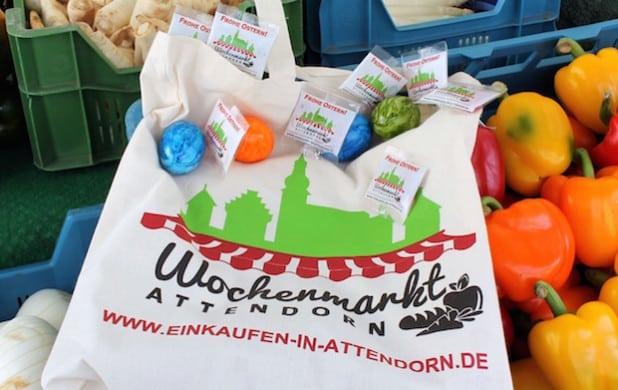 In der Woche vor Ostern findet auf dem Wochenmarkt eine erste Aktion in diesem Jahr statt (Foto: Hansestadt Attendorn).