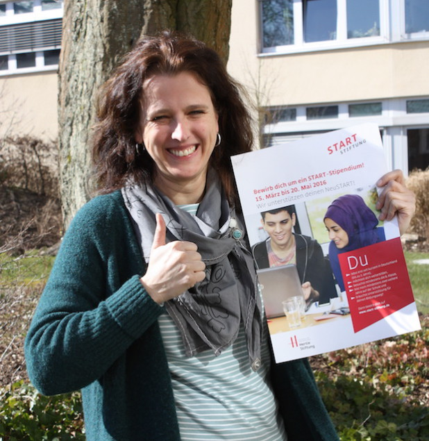 Dagmar Sprenger wirbt für das START-Stipendium (Foto: Kreis Olpe).